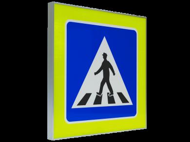 Светеща табела за пешеходна пътека