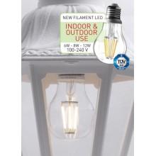 LED лампа - fillament E27 6W